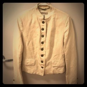See by Chloe cream military style jacket size 8